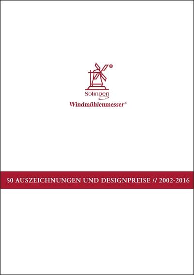 Prospekt Windmühlenmesser Auszeichnungen