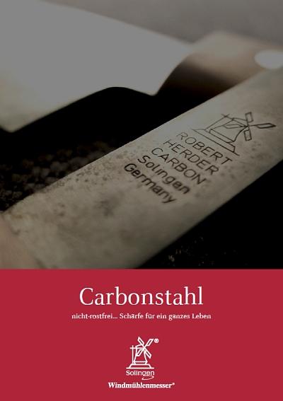 Prospekt Windmühlenmesser Carbonstahl