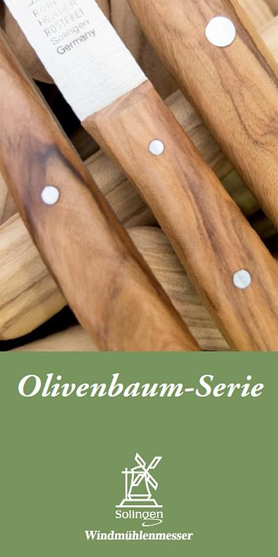 Prospekt Windmühlenmesser Olivenbaum-Serie