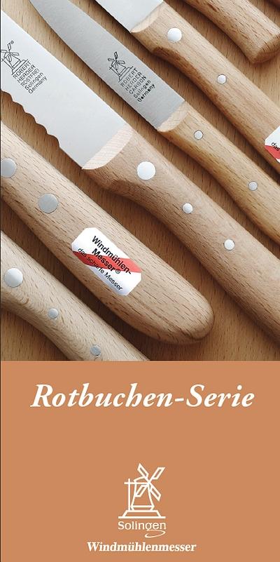 Prospekt Windmühlenmesser Rotbuchen-Serie